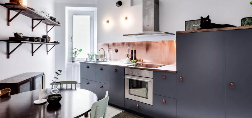 Дизайн кухни без верхних шкафов: на что важно обратить внимание