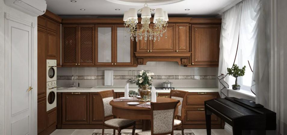 Дизайн кухни в классическом стиле: правила оформления