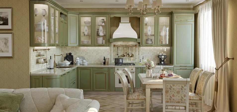 Дизайн кухни в стиле Прованс: нотки франции у вас дома