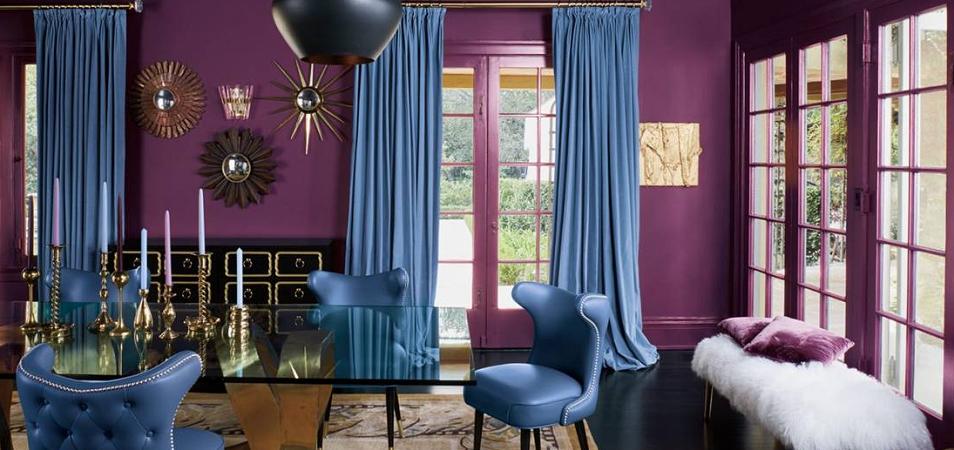 Фиолетовый цвет в интерьере: хитрости и особенности использования