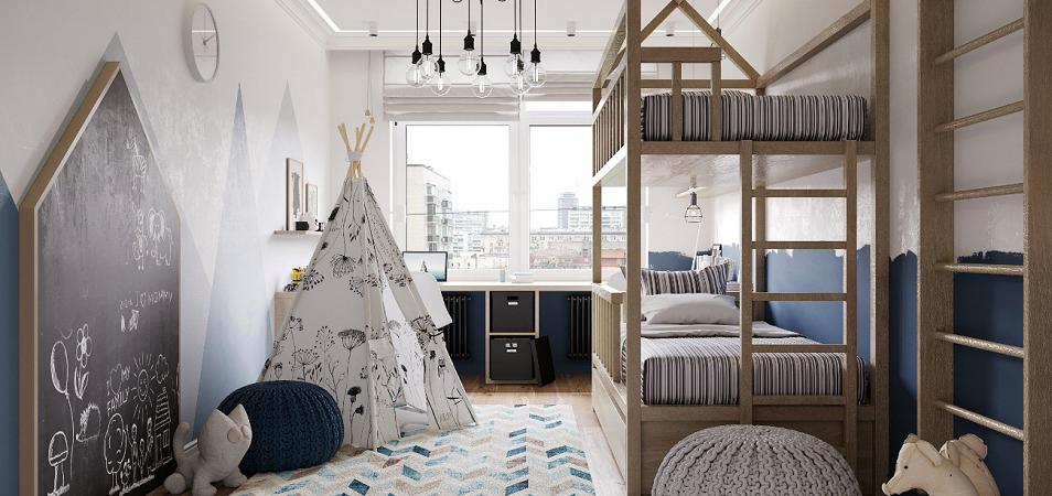 Дизайн детской комнаты: разнообразие стилей и цветовых решений с фото