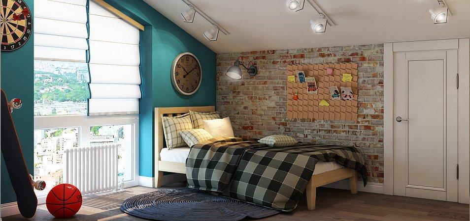 Детская комната в стиле лофт: 50 идей дизайна интерьера на фото