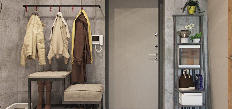 Прихожая в стиле лофт - 50 фото в интерьере квартиры и дома