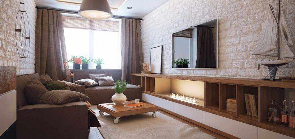 Идеи для дизайна гостиной 20 кв.м