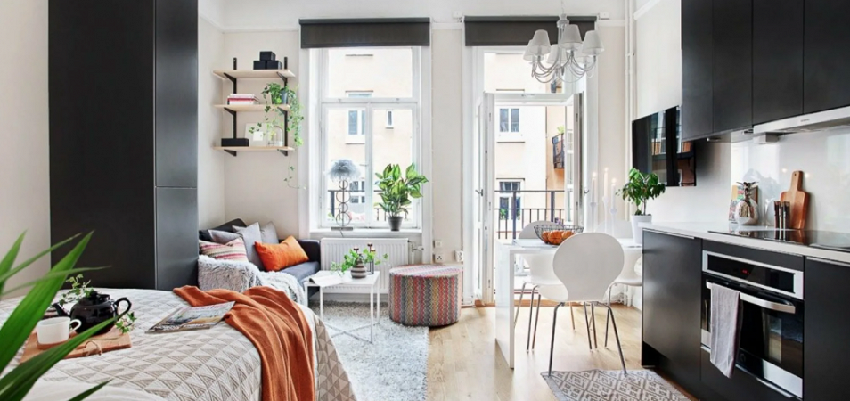 Интерьеры маленьких квартир в разных стилях