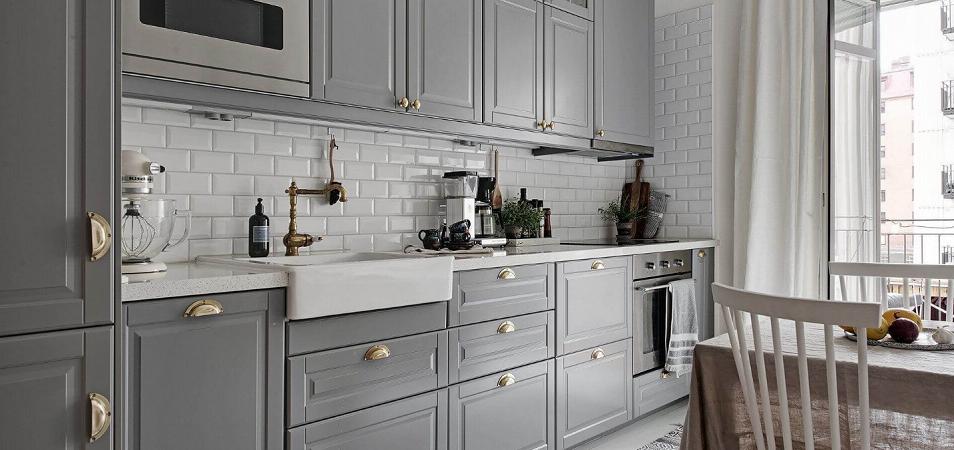 Серые кухни: чувство стиля