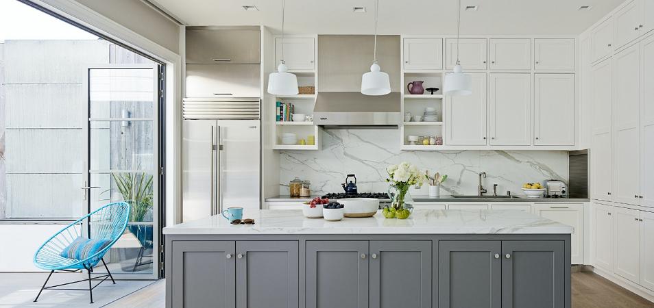 Серо-белая кухня: стиль, оттенки, особенности