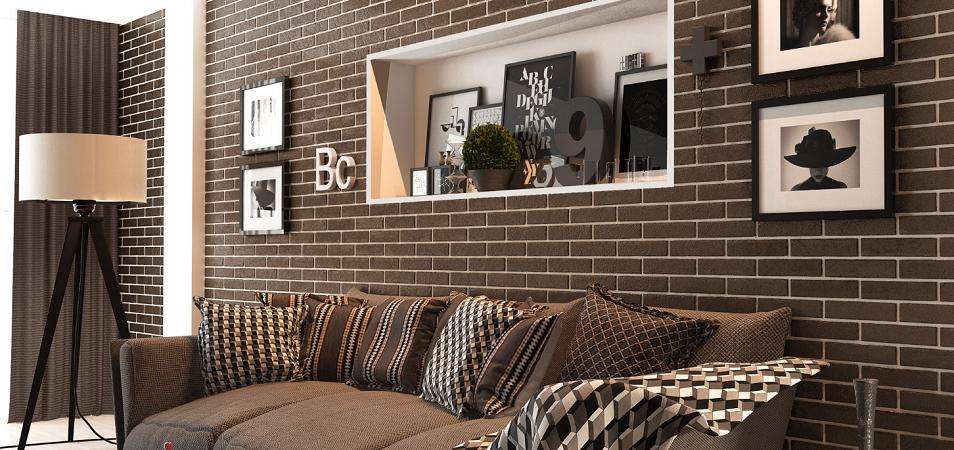 Тонкости дизайна кирпичной стены в интерьере