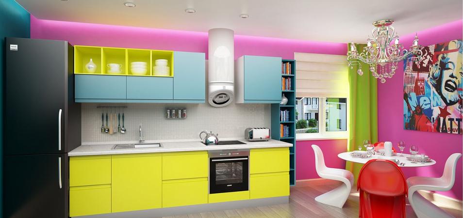 Топ-10 ярких кухонь