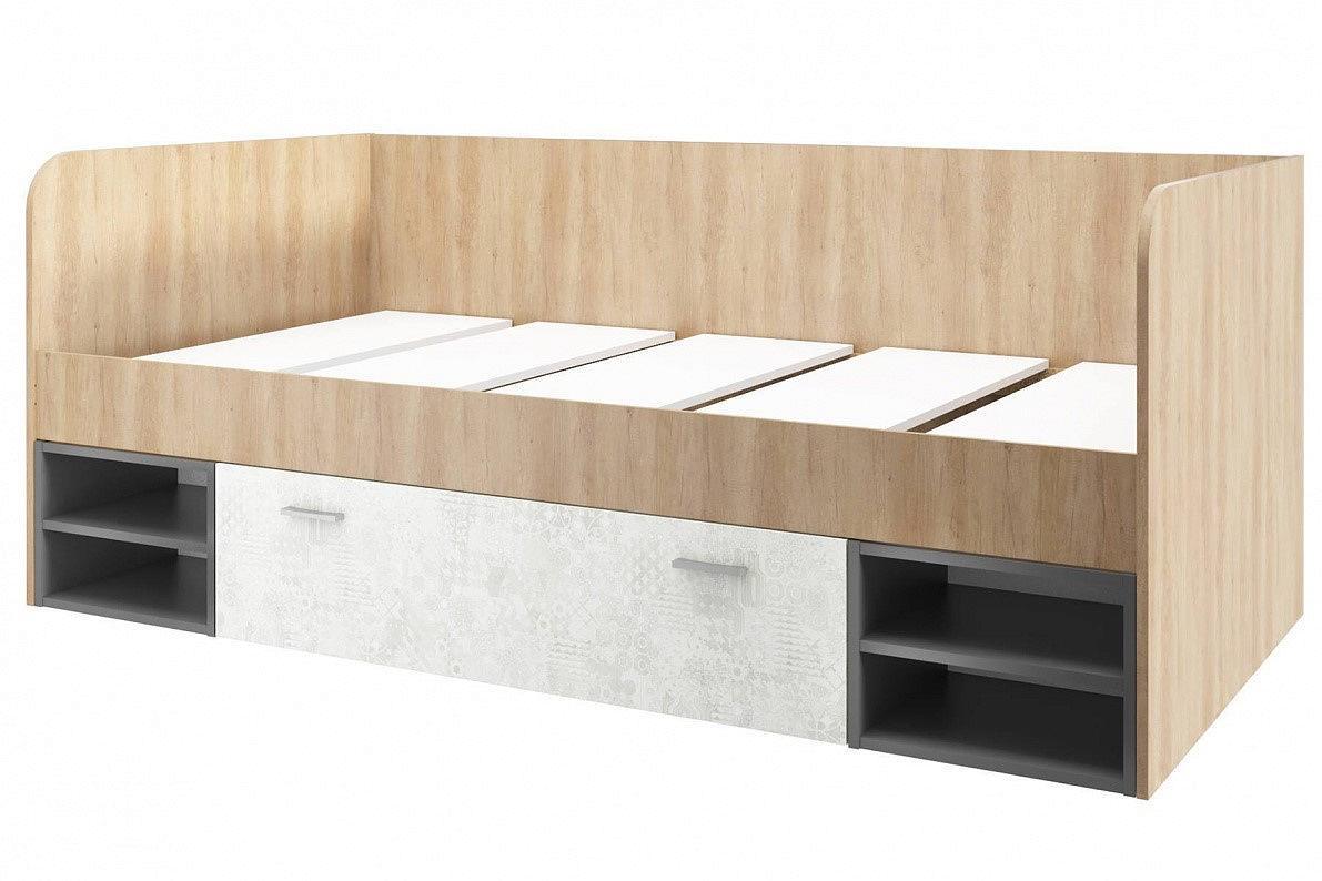 Кровать Арчи СТЛ.301.10 Дуб небраска/Спринт/Антрацит/Белый