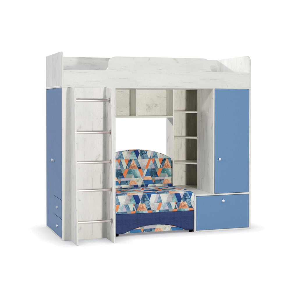 Кровать чердак Тетрис 1 366 Дуб крафт