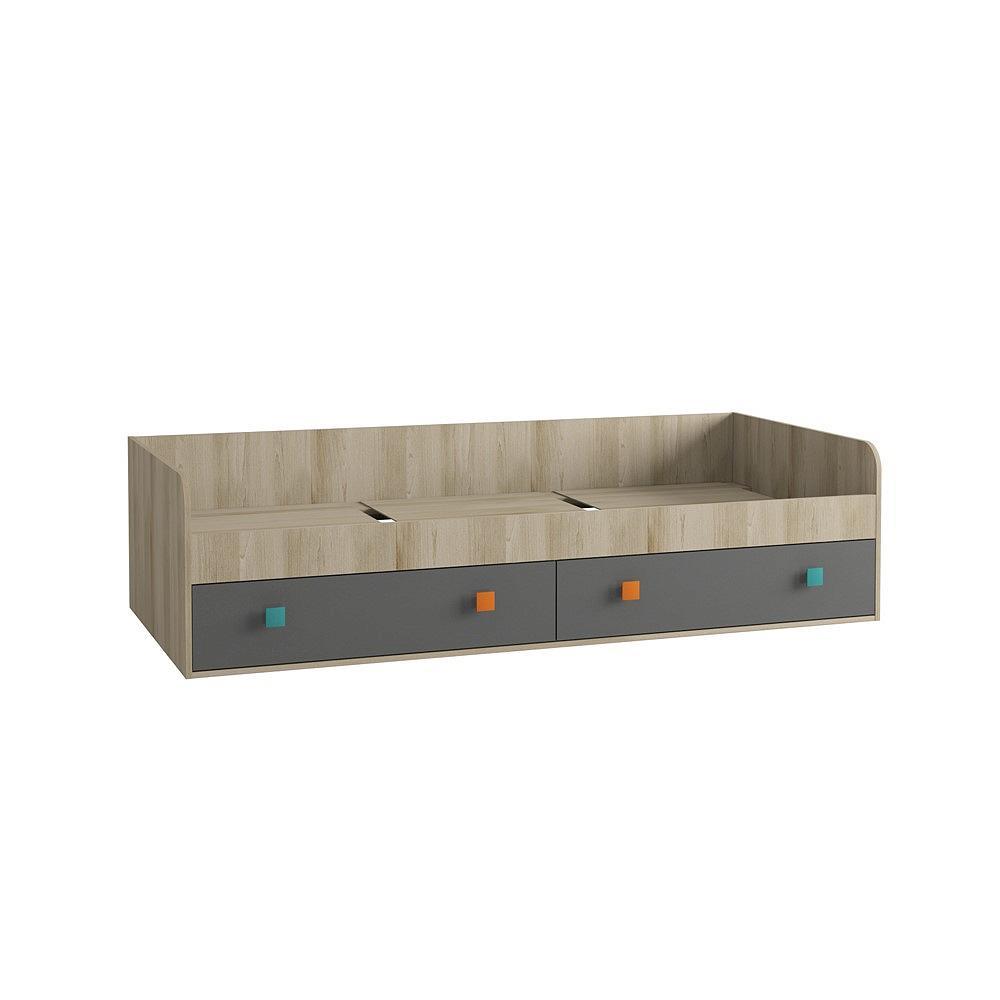 Кровать Доминика 453 Бук песочный/ Серый шифер