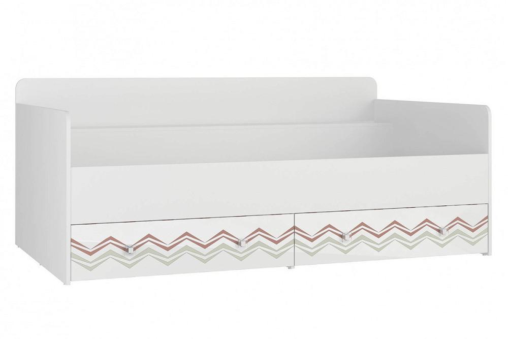 Кровать Модерн - Абрис Белый глянец/ Бело-серый фото