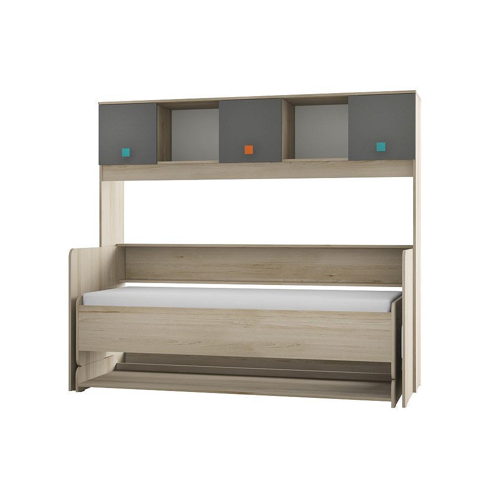 Кровать-трансформер Доминика 465 Бук песочный/ Серый шифер