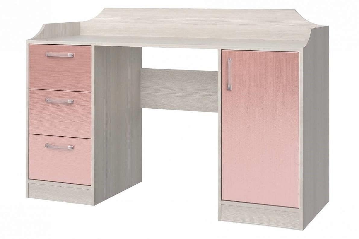 Стол компьютерный Флауэ СТЛ.093.22 Розовый/Сосна Авола