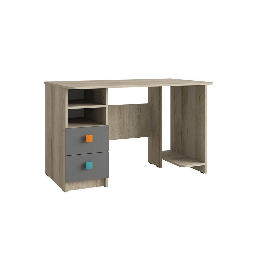 Стол письменный Доминика 458 Бук песочный/ Серый шифер