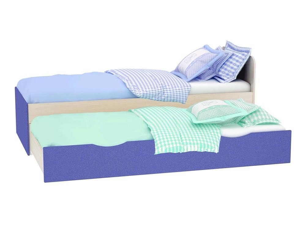 Кровать Роман КР-704 2-х уровневая Голубой металлик