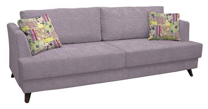 Прямой диван-кровать Дамаск Элеганс 67 сиреневый/Элисса 2421/8 печворк фото