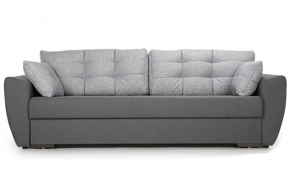 Прямой диван-кровать Кокос серый фото