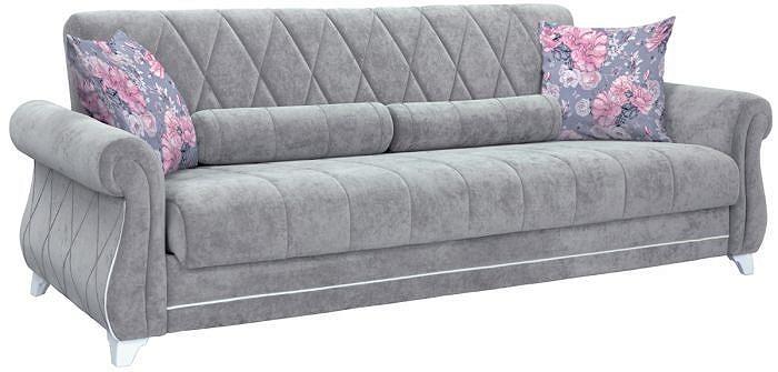 Прямой диван-кровать Роуз Энерджи грей 18/Фибра Венди фото