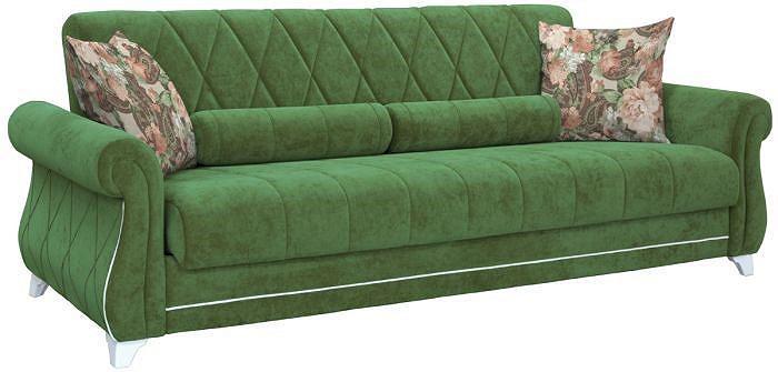 Прямой диван-кровать Роуз Вельвет люкс 77/Деликиус браун фото