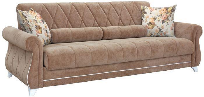 Прямой диван-кровать Роуз Вельвет люкс 90/Аркадия салмон фото