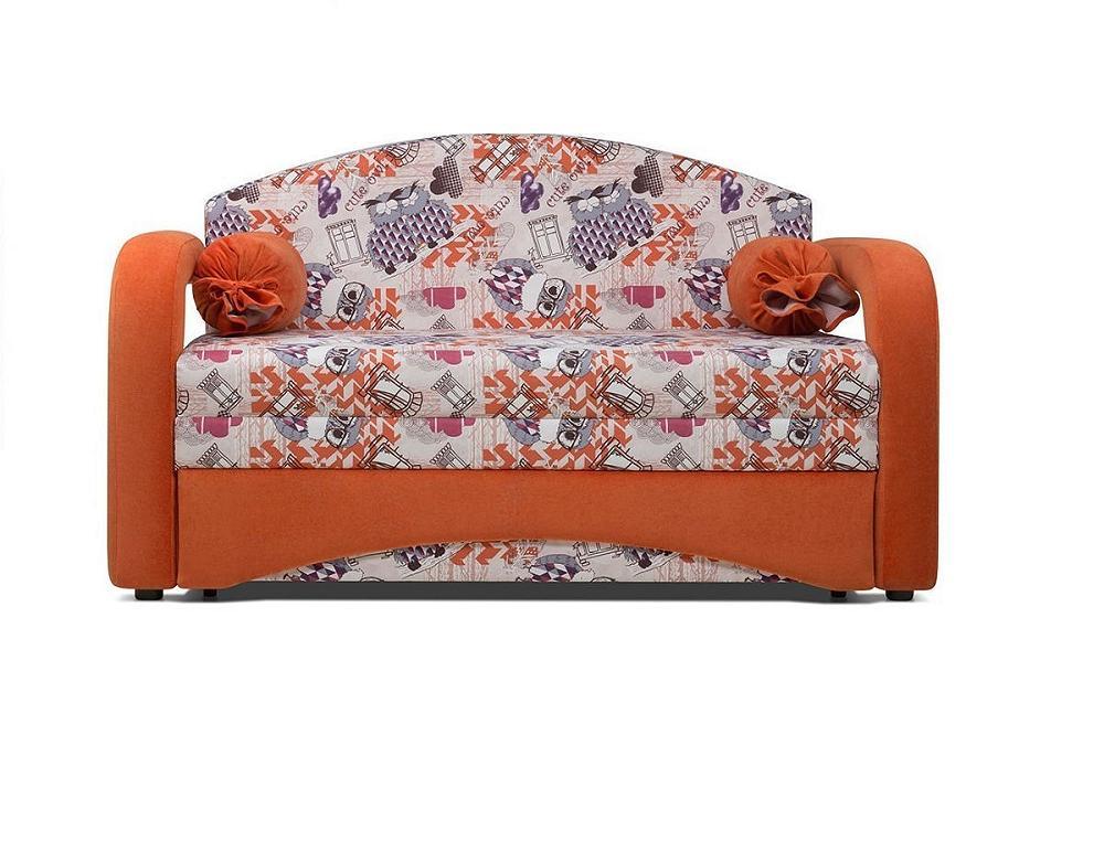 Диван - кровать Антошка Канваз филин манго/Лайт 11 оранж фото
