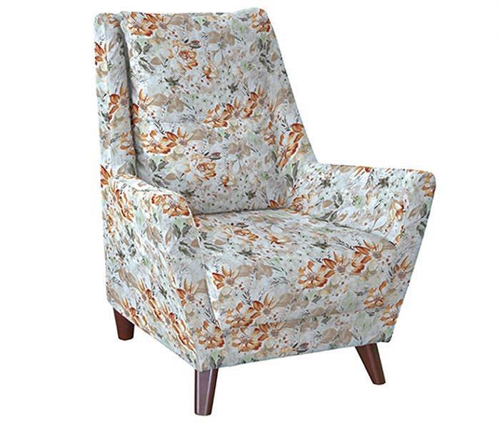 Кресло для отдыха Дали Фибра 2885/5 коричневые цветы