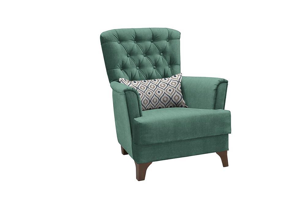 Кресло для отдыха Ирис Лекко теал/Фибра геометрия 18 бежевый фото