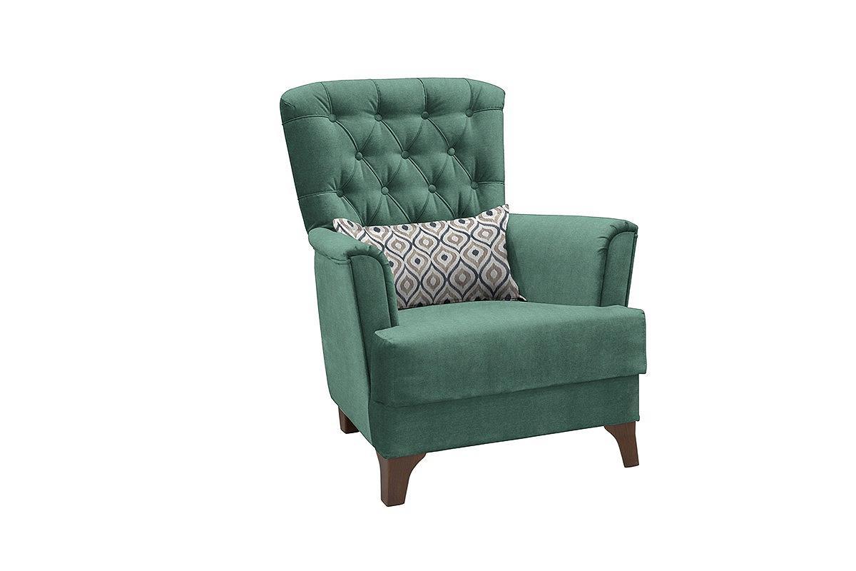 Кресло для отдыха Ирис Лекко теал/Фибра геометрия 18 бежевый