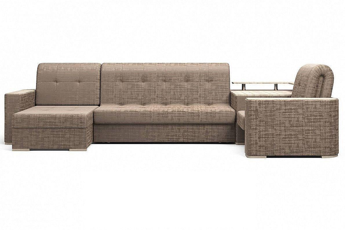 Угловой диван Ибица с креслом и столиком Camelot 09