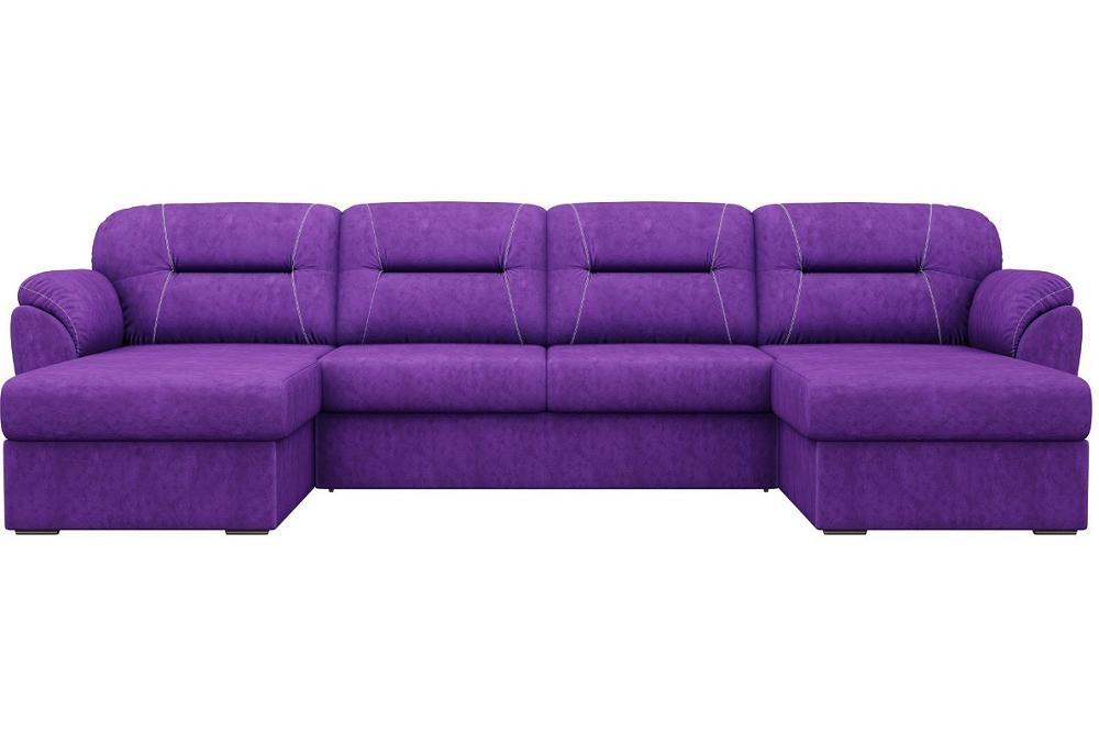 П-образный диван Бостон Велюр Фиолетовый фото