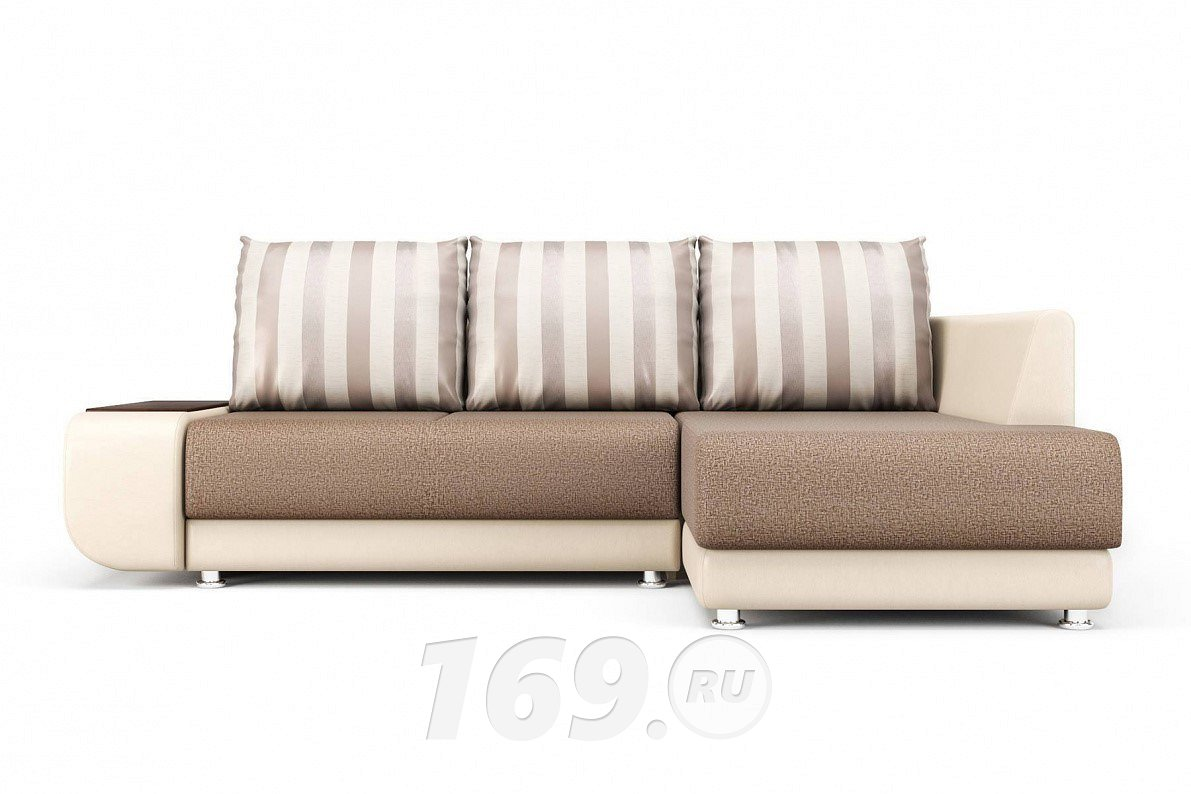 Угловой диван Бруно (правый) Mika 10/Paloma 7650