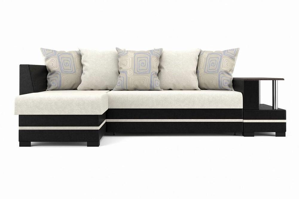 Угловой диван левый Лорд 2 (05) (УЛ) Pedro 24/Real black фото