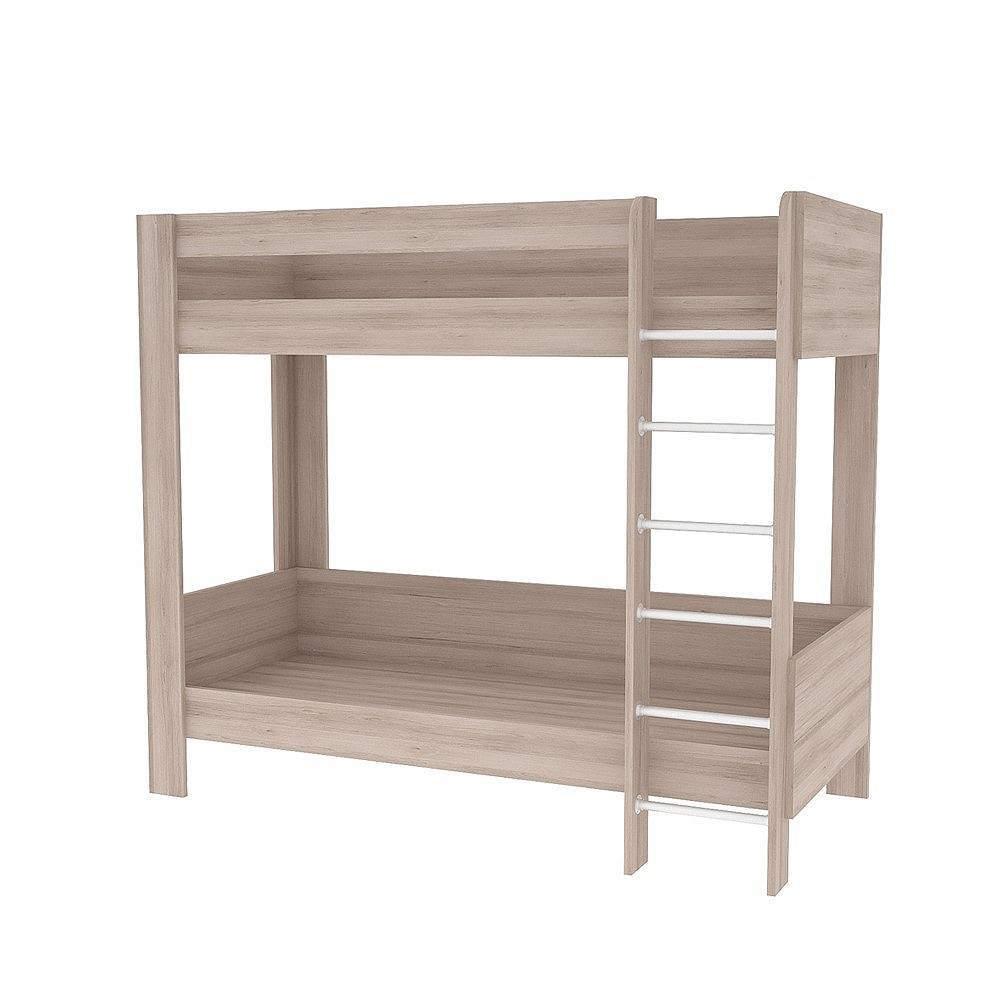 Кровать двухъярусная Ника 438 Ясень шимо светлый