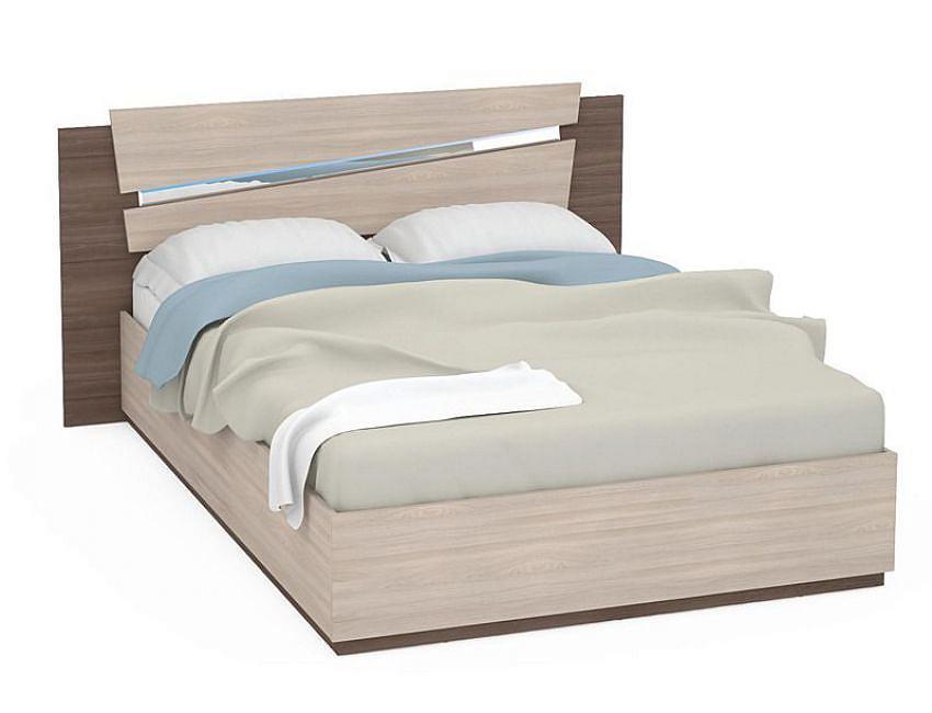 Кровать двойная Т Моника 160 (А) Ясень шимо светлый фото