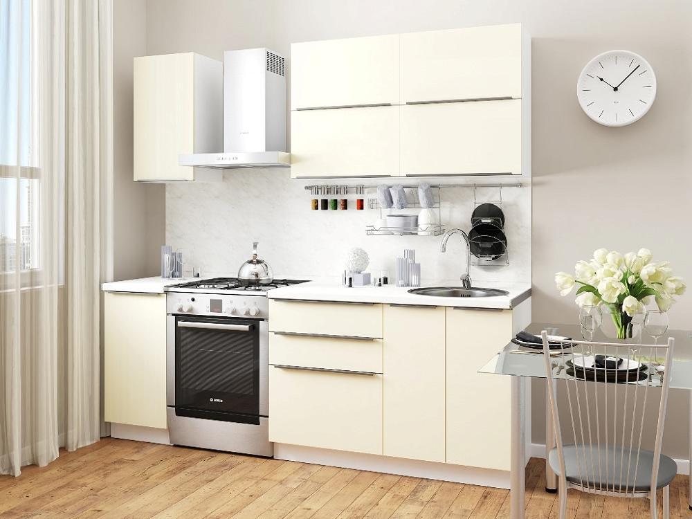 Прямая кухня Фьюжн-01 Ivory фото