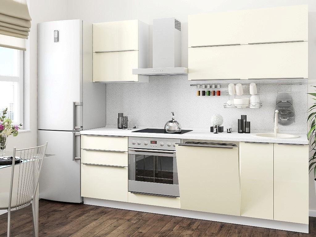 Прямая кухня Фьюжн-02 Ivory