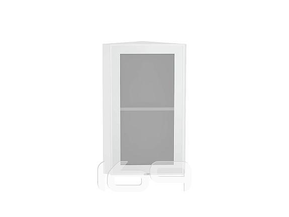 Купить Шкаф верхний торцевой остекленный Фьюжн-AL-01 ВТ 224Н Аluminum-Белый в интернет магазине. Цены, фото, описания, характеристики, отзывы, обзоры