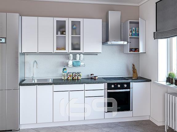 Купить Прямая кухня Фьюжн-AL-02 Brilliant в интернет магазине. Цены, фото, описания, характеристики, отзывы, обзоры