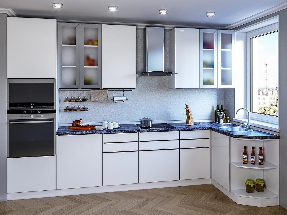 Угловая кухня Фьюжн-AL-04 Brilliant