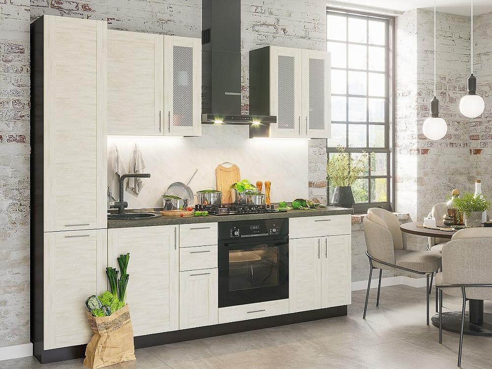 Прямая кухня Лофт-02 Nordic Oak