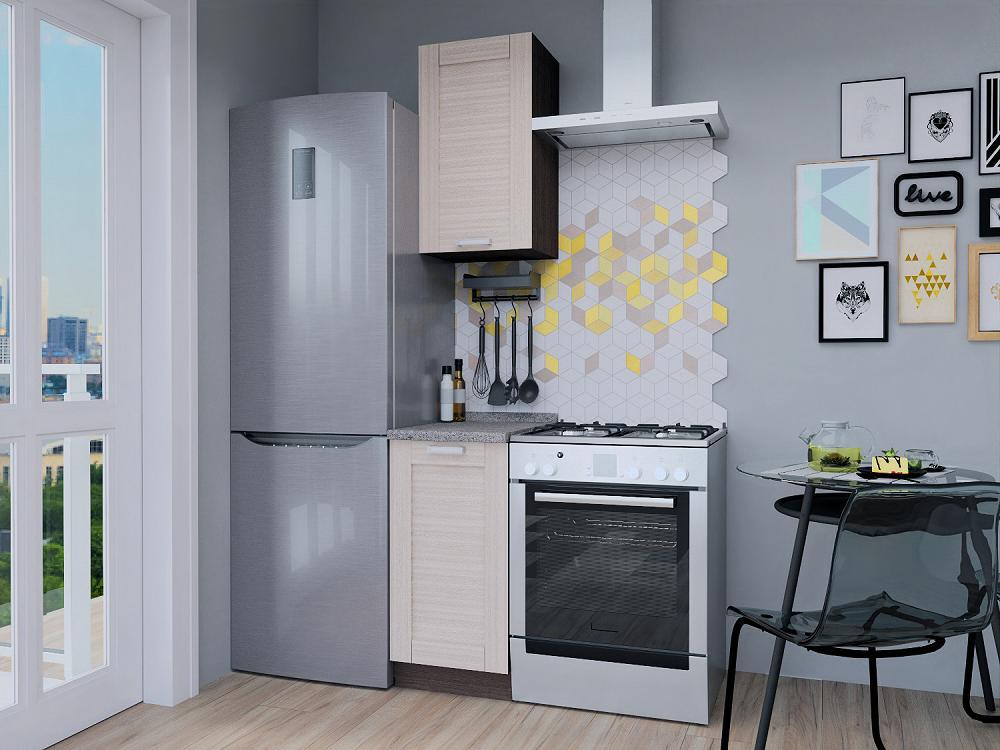 Прямая кухня Лофт-12 Nordic Oak
