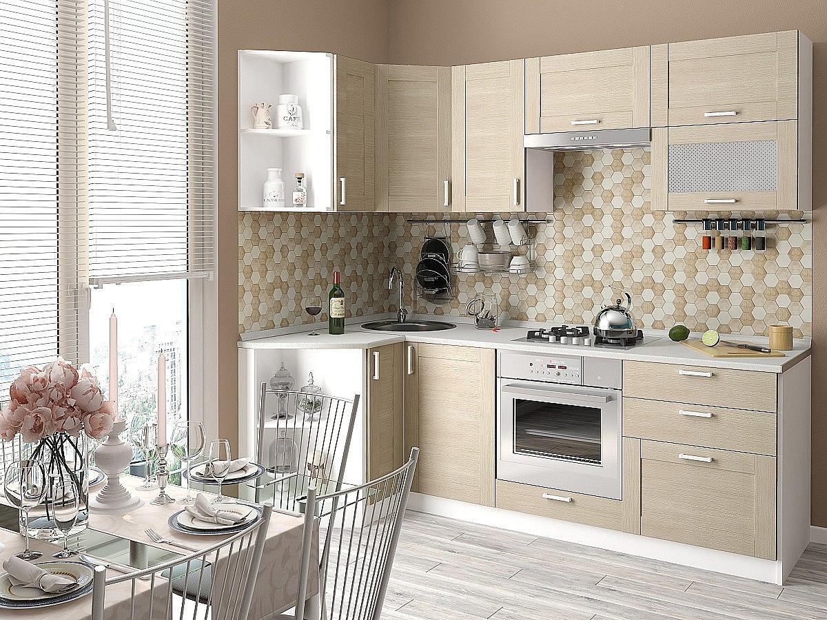 Угловая кухня Лофт-03 Cappuccino Veralinga