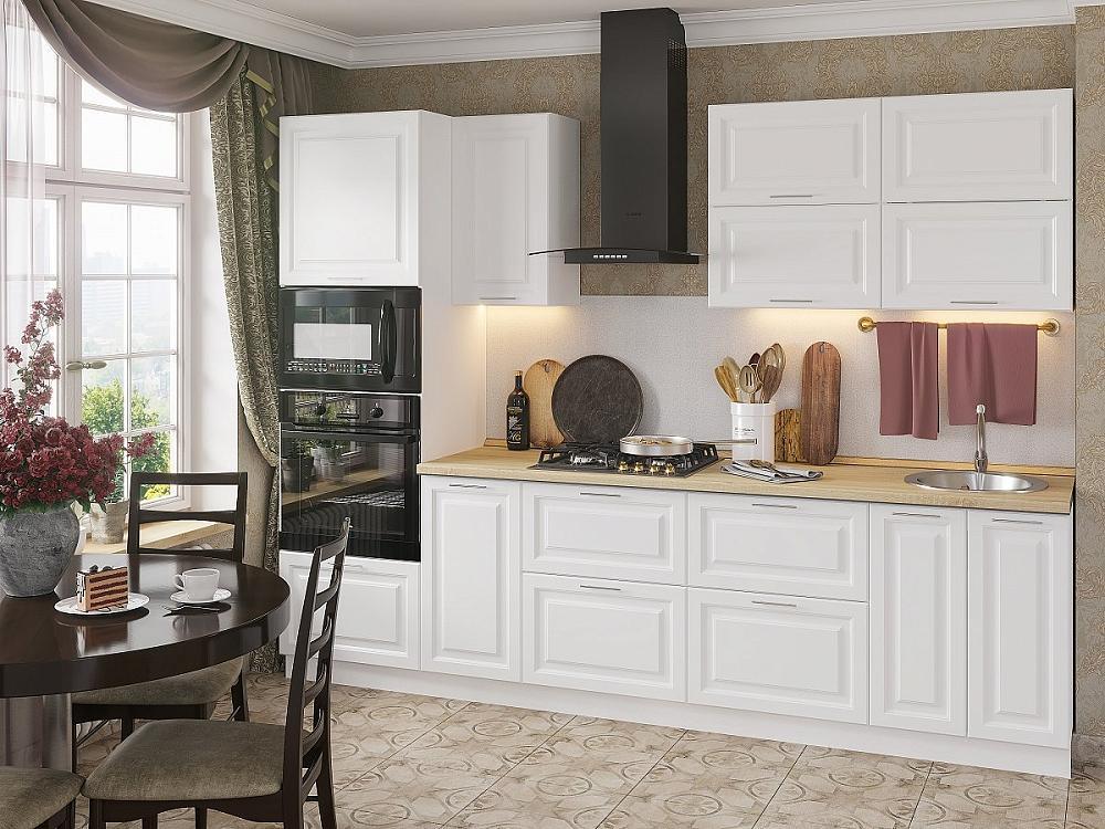 Прямая кухня Ницца Royal-02 Blanco