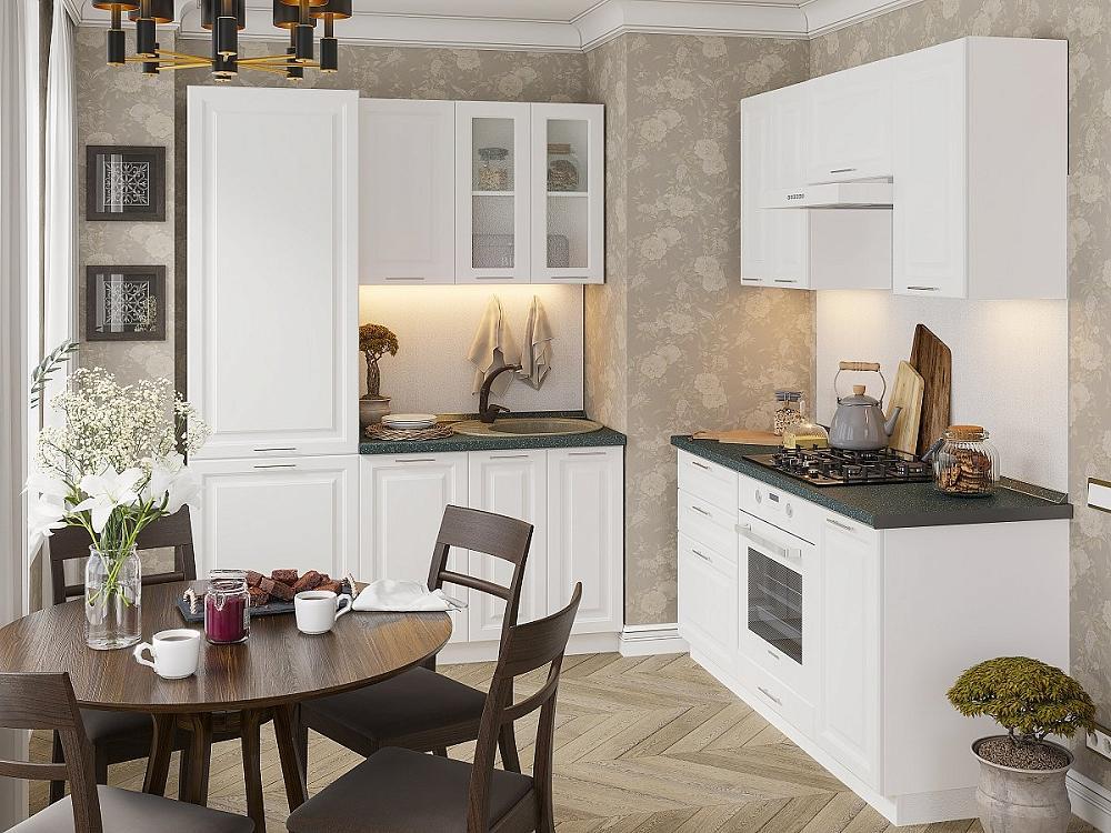 Угловая кухня Ницца Royal-03 Blanco