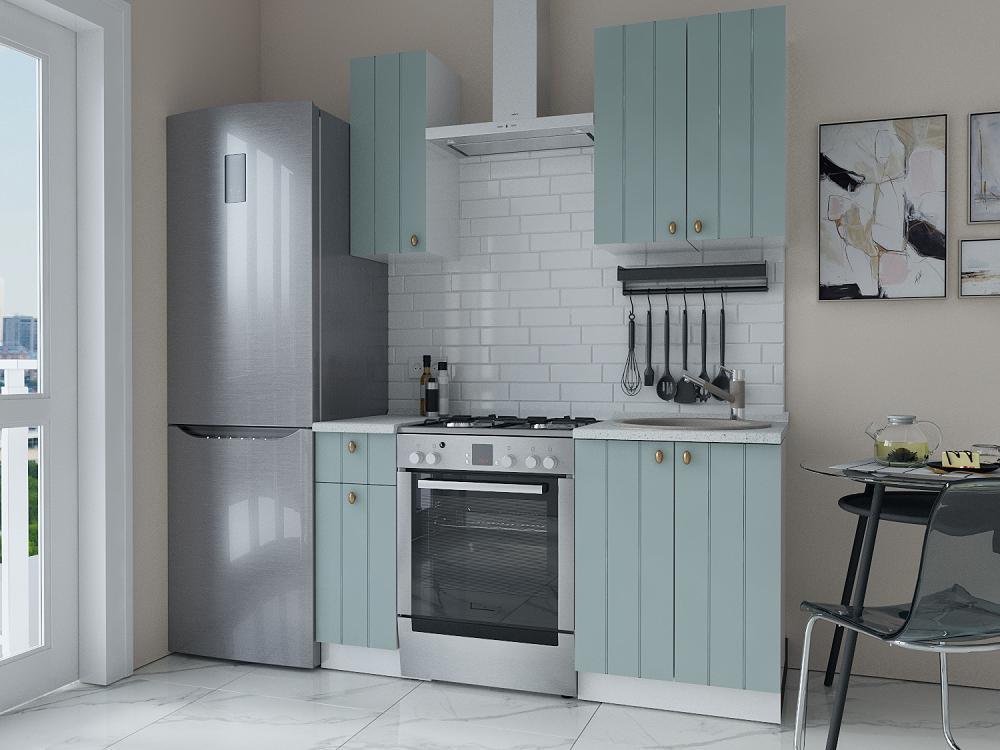 Прямая кухня Прованс-03 Голубой