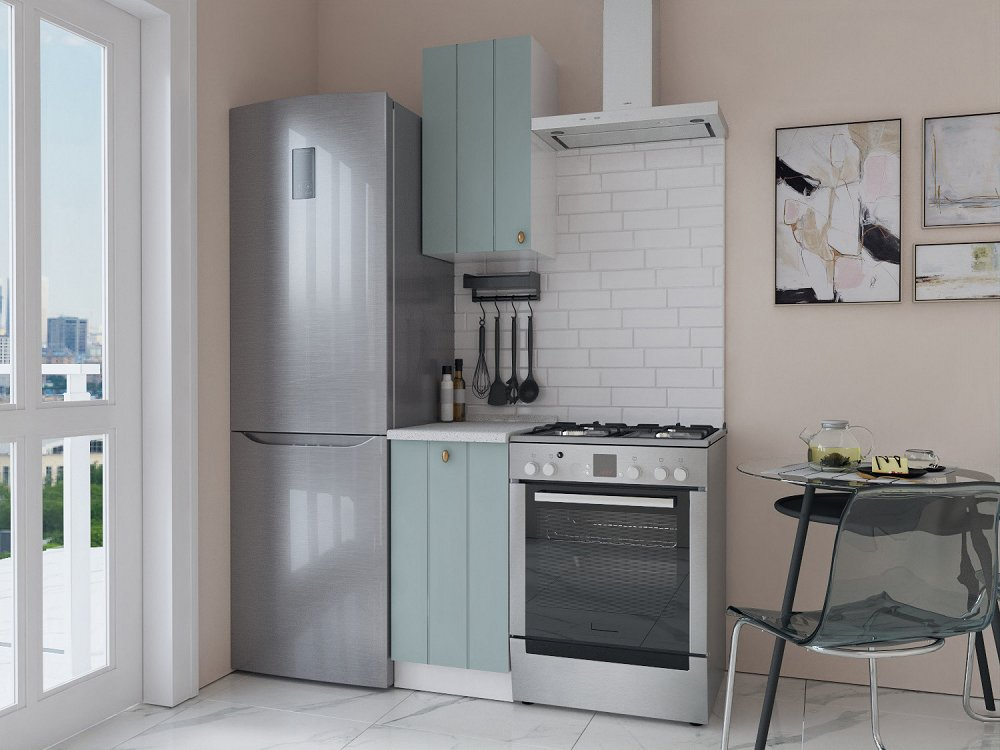 Прямая кухня Прованс-05 Голубой