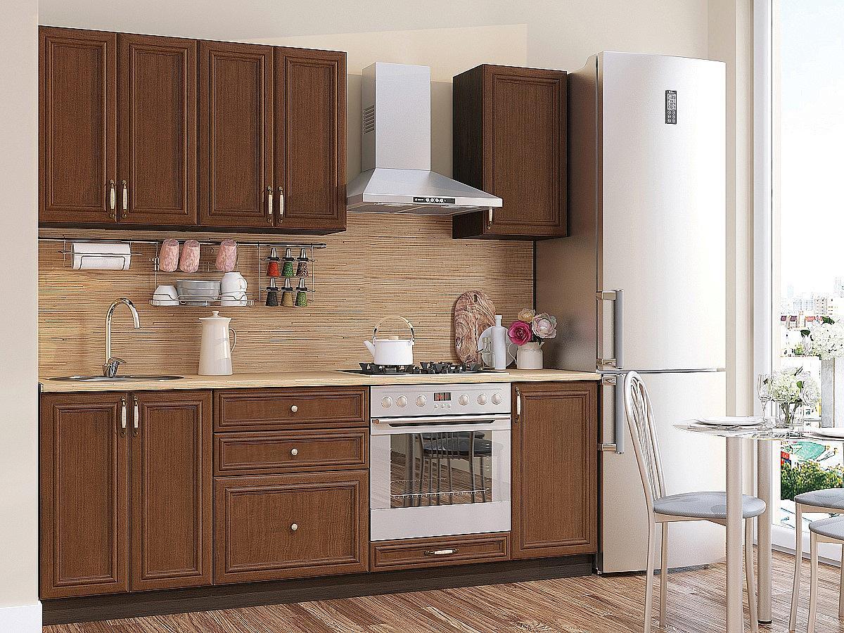 Прямая кухня Шале-01 Brown Oak