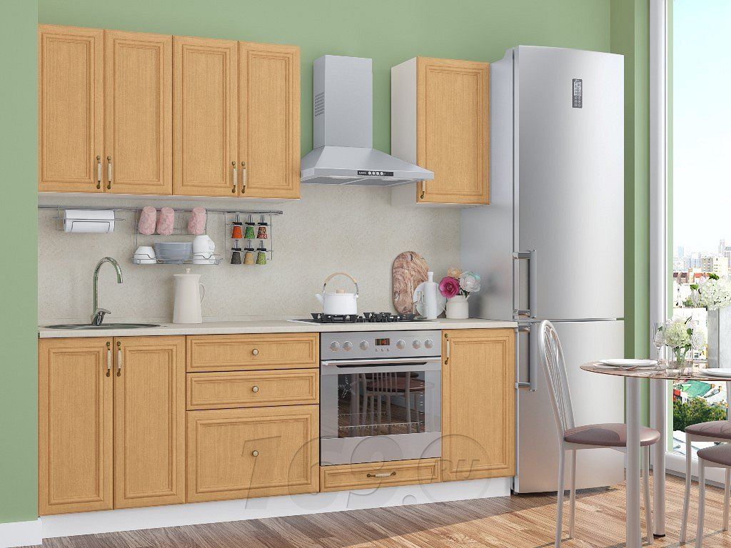 Прямая кухня Шале-01 Real Oak